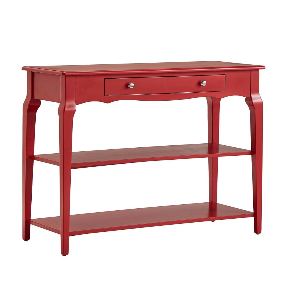Muriel Console Table TV Stand with Shelves Heirloom Red - Inspire Q