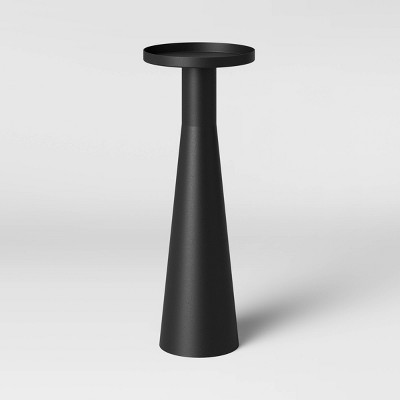 Alester Round Smooth Metal Drink Table Black - Project 62™