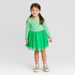Toddler Girls' Stripe Tulle Dress - Cat & Jack™ Green