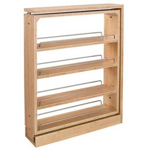 Rev A Shelf 3 Inch Base Filler Pullout Kitchen Wooden Spice Rack Holder  Shelves