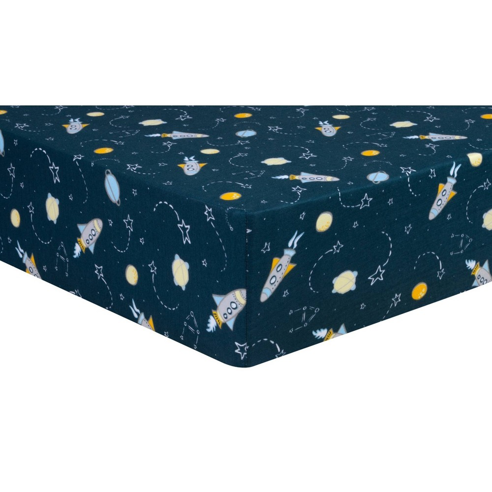 Trend Lab Fitted Crib Sheet Rockets