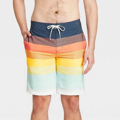 "Men's 10"" Striped Sunset Board Shorts - Goodfellow & Co™ Orange"