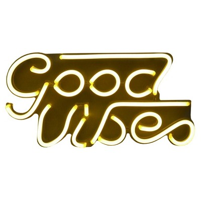 LED Neon Good Vibes Wall Sign Novelty Wall Lights- - Room Essentials™