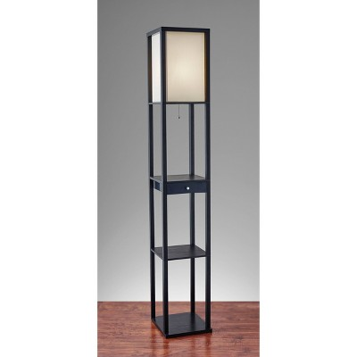 Parker Shelf Floor Lamp Black - Adesso
