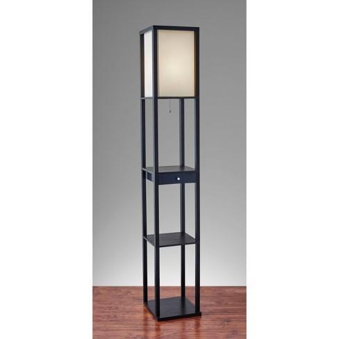 Parker Shelf Floor Lamp Black - Adesso - image 1 of 4