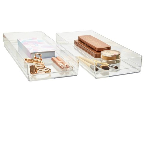 """US Acrylic 15""""x6""""x2"""" Stackable Drawer Organizer - 2pk - image 1 of 4"""