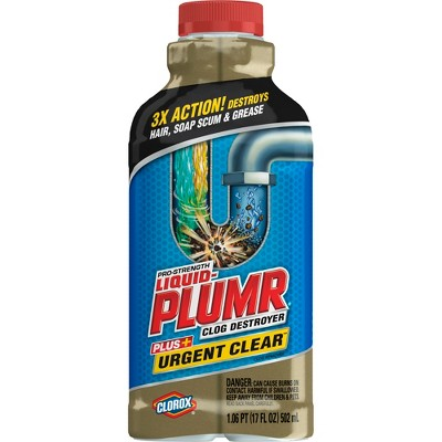 Drain Cleaners: Liquid-Plumr Pro-Strength Clog Remover Urgent Clear