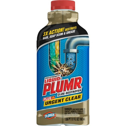 Liquid-Plumr Pro-Strength Clog Remover Urgent Clear 17 oz - image 1 of 2