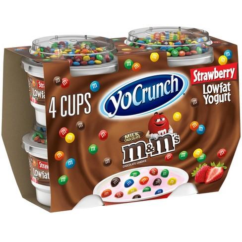 Dannon YoCrunch Strawberry Blended Yogurt - 4oz - image 1 of 4