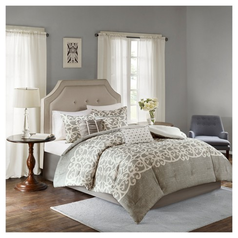 Ellia Texture Printed Comforter Set 7pc - image 1 of 6