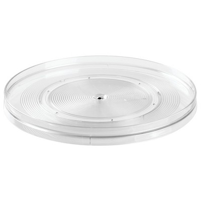 InterDesign Linus Lazy Susan Turntable Medium Clear