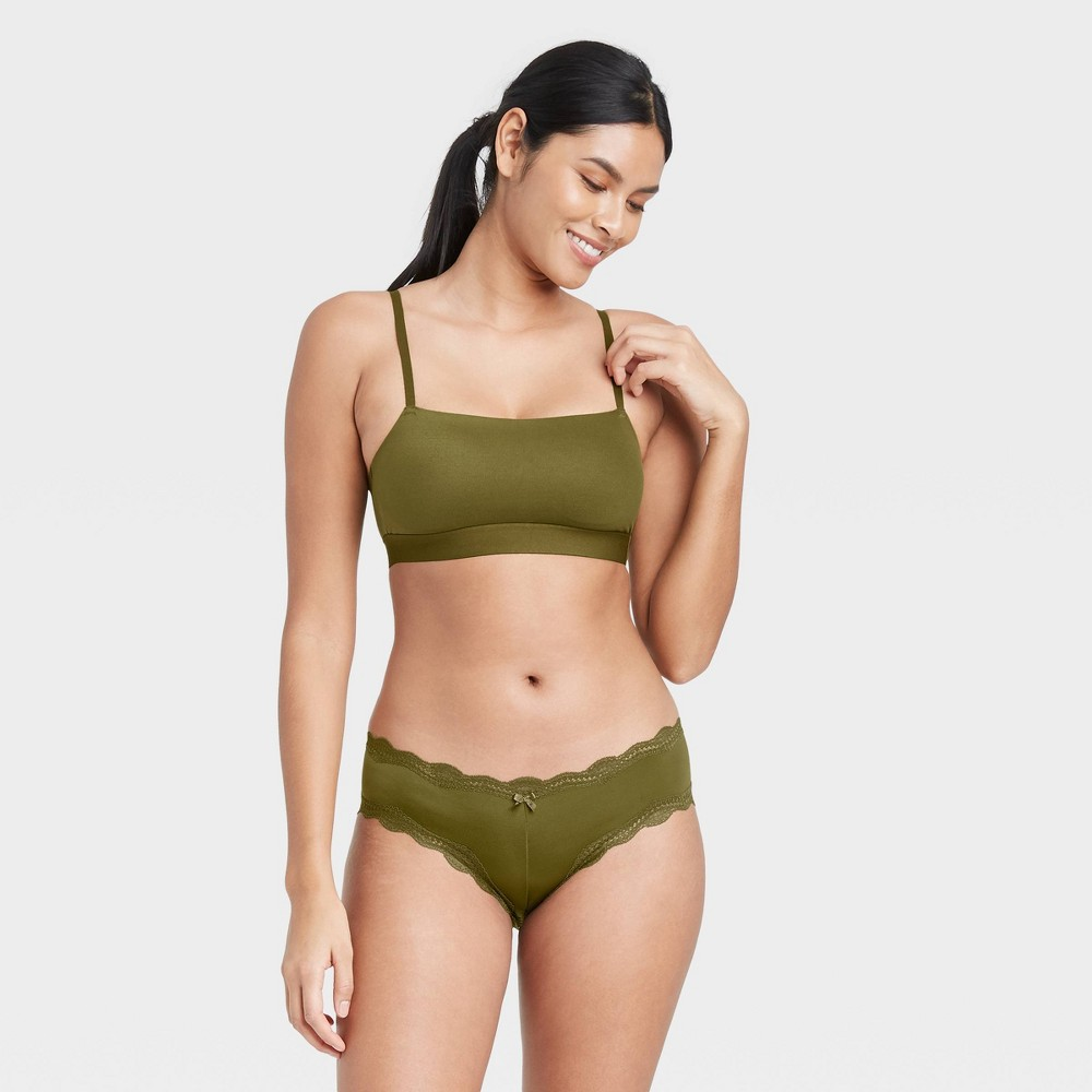 Women 39 S Micro Cheeky Underwear With Lace Auden 8482 Green M