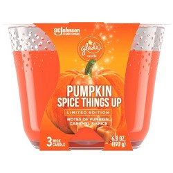 Glade 3-Wick Candle Pumpkin Spice Things Up - 6.8oz