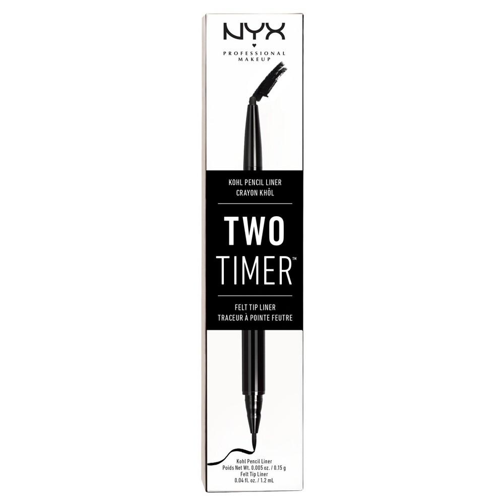 Nyx Professional Makeup Two Timer Dual Ended Eye Liner Black - 0.45oz, Dual End Black