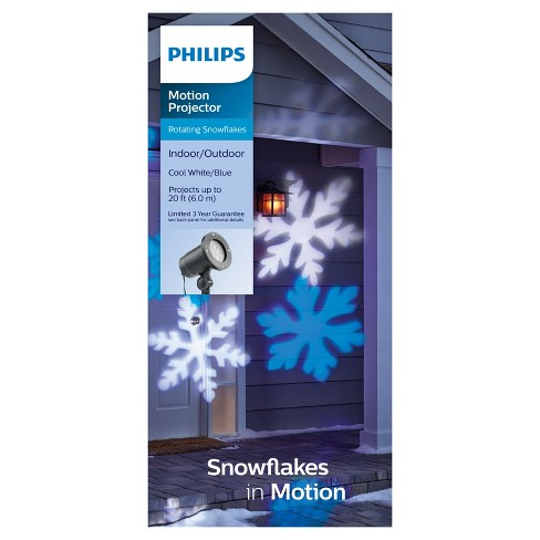Philips Cool White and Blue LED Snowflake Motion Projector - image 1 of 3
