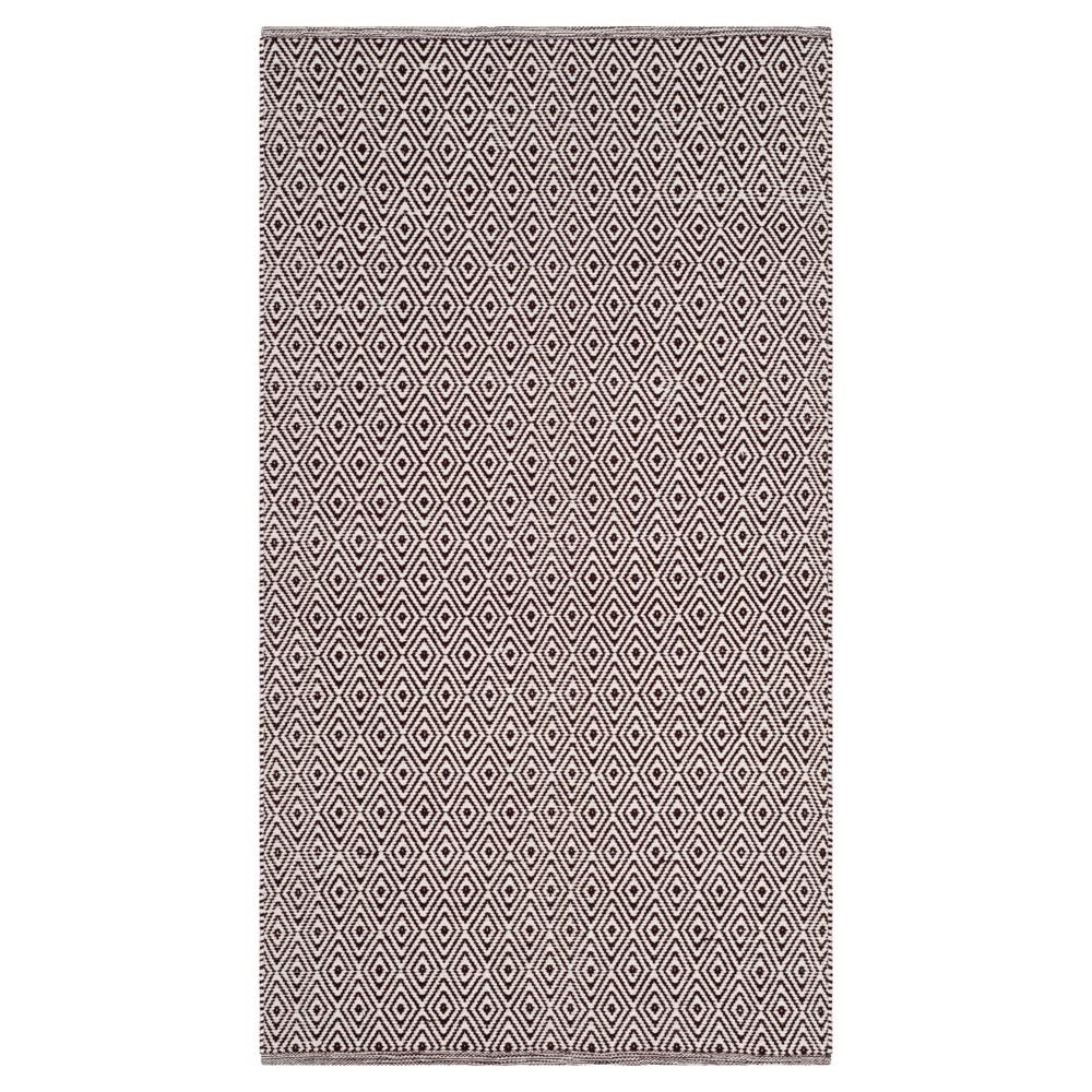 Buy Ivory Chocolate Stripe Flatweave Woven Area Rug - (4X6) - Safavieh