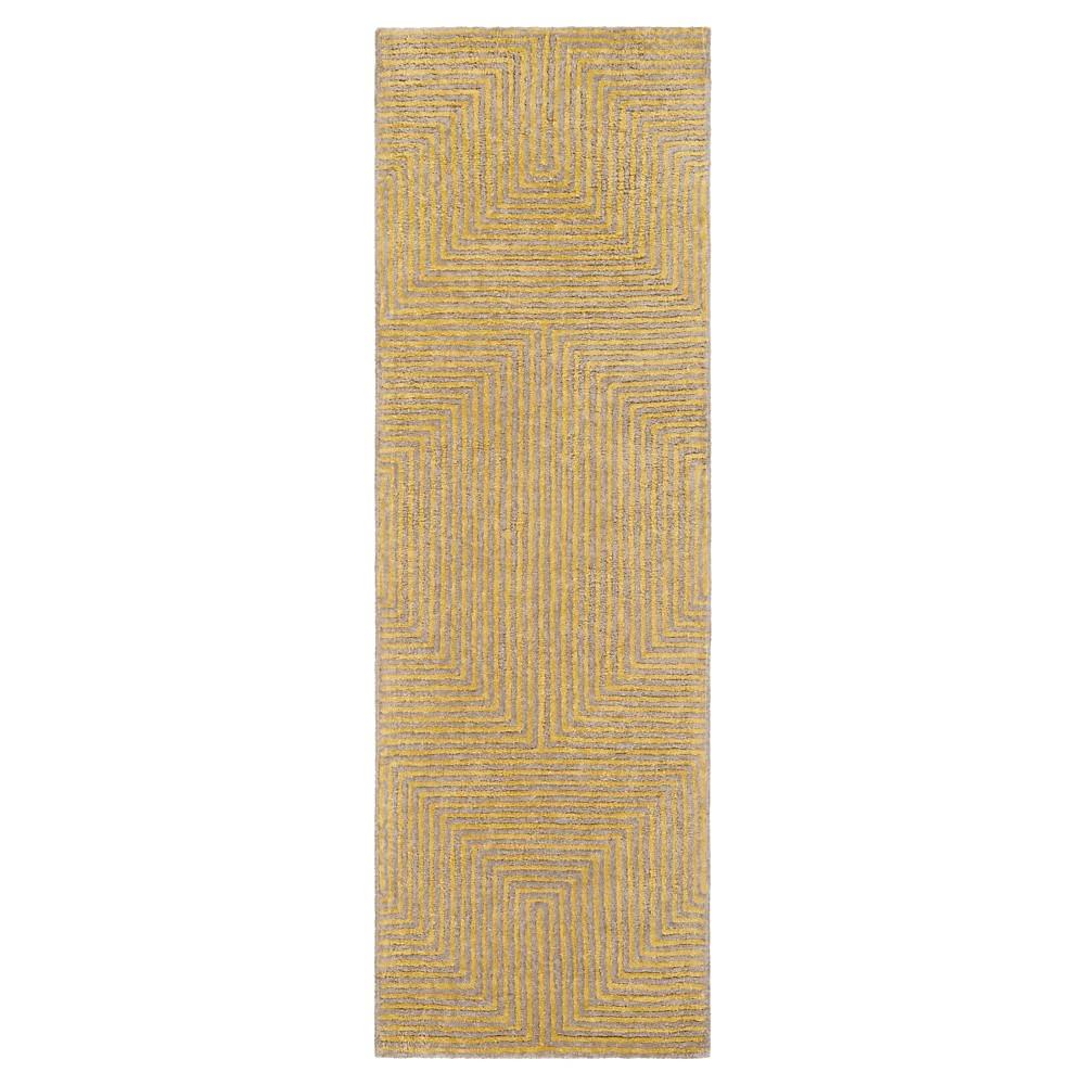 Mustard (Yellow) Abstract Woven Runner - (2'6X8' Runner) - Surya