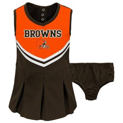 NFL Cleveland Browns Toddler Girls' In the Spirit Cheer Set