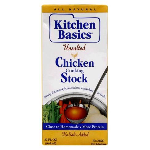 Kitchen Basics Unsalted Chicken Stock 32 oz - image 1 of 1