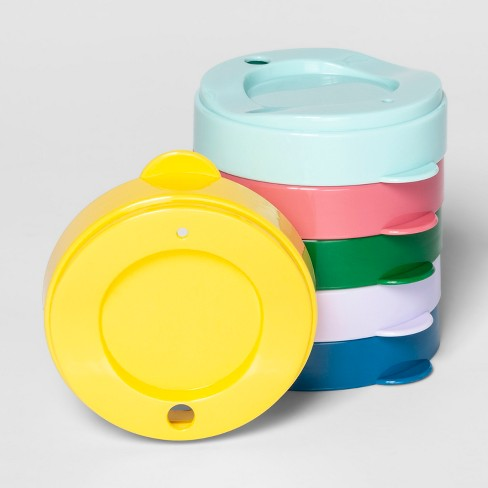 6pk Plastic Basic Kids Tumbler Lids - Pillowfort™ - image 1 of 1