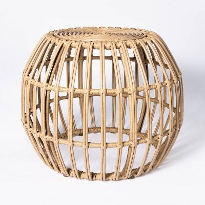 Faux Rattan Patio Ottoman - Threshold™ designed with Studio McGee