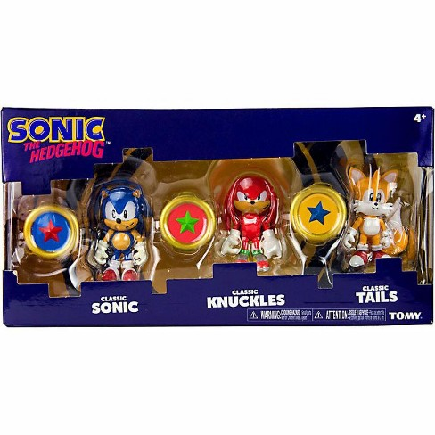 Sonic The Hedgehog Sonic Boom Classic Sonic Classic Knuckles And Classic Tails Action Figure 3 Pack 3 Rings Target