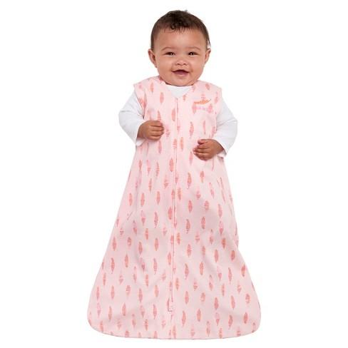 HALO® SleepSack® 100% Cotton Wearable Blanket - Pink Feathers   Target 69b2cc30b