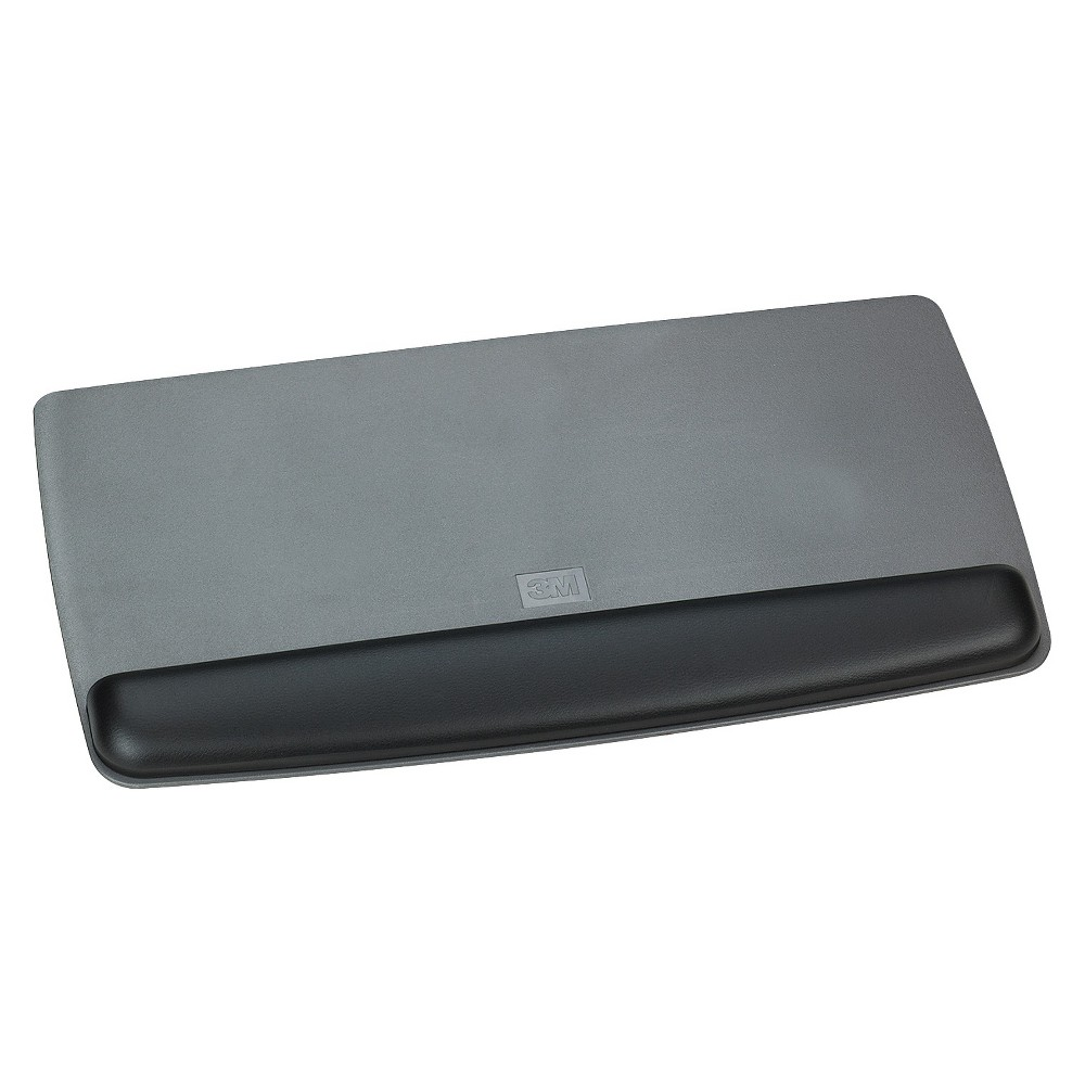 Image of 3M Gel Professional ll Series Keyboard Wrist Rest, Black/Metallic Gray