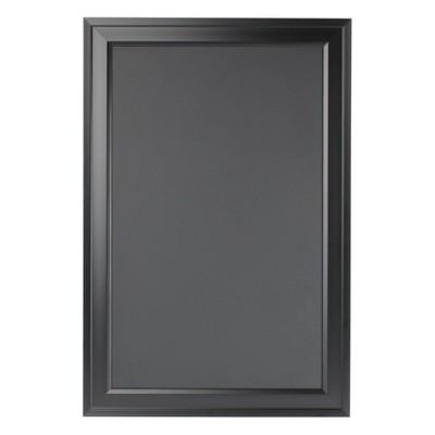 """19"""" x 28"""" Bosc Framed Magnetic Chalkboard Black - DesignOvation"""
