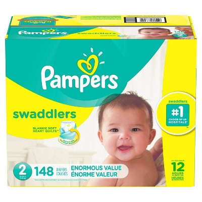 Pampers Swaddlers Disposable Diapers Enormous Pack - Size 2 (148ct )