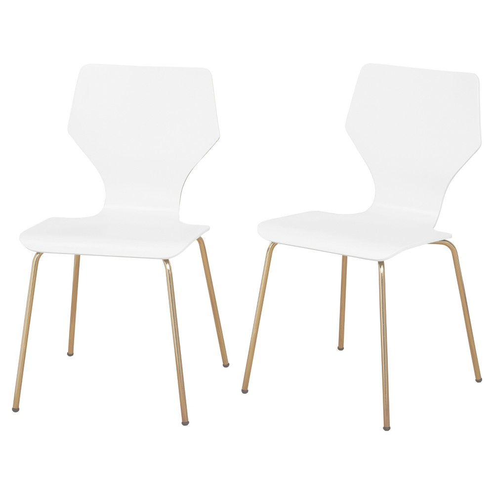 Best Price Enna Dining Chairs Set Of 2 White AngeloHome