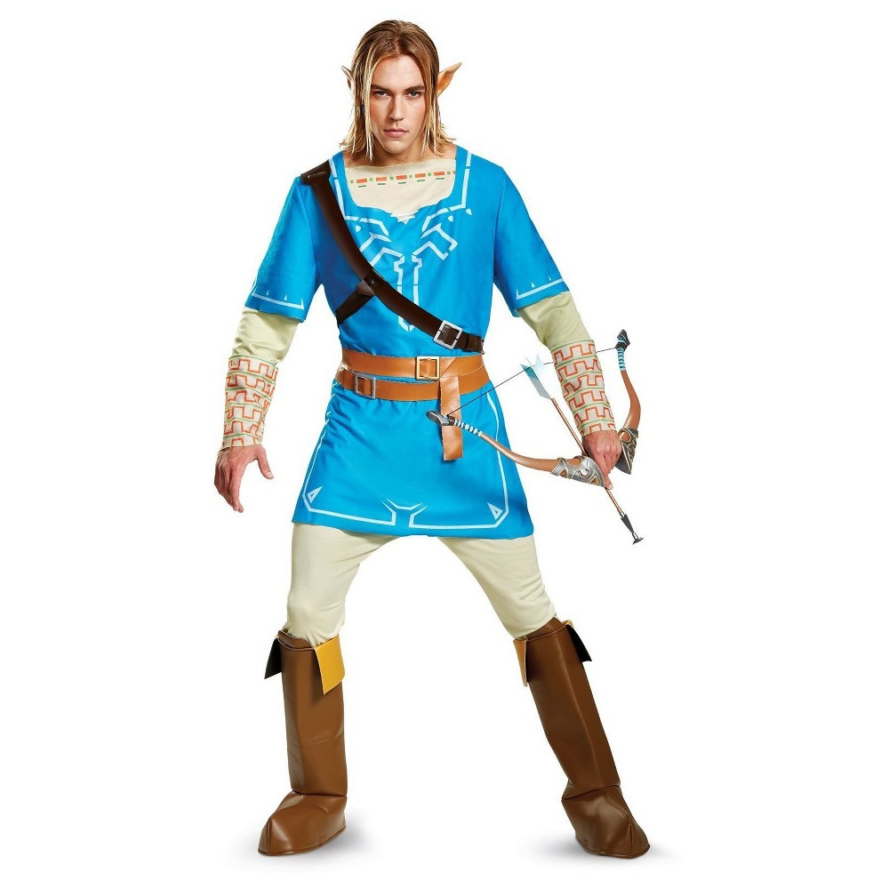 Adult The Legend of Zelda: Link Breath Of The Wild Deluxe Costume Xxl, Women's, Multicolored