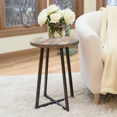 Miller Rustic Wood Table Tan - Firstime