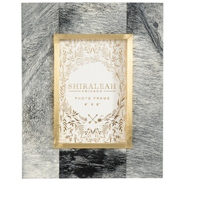 Mansour Marbelized 4X6 Picture Frame  - Gray - Shiraleah