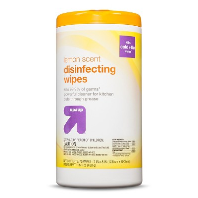 Disinfecting Wipes Lemon Scent 75 ct - up & up™