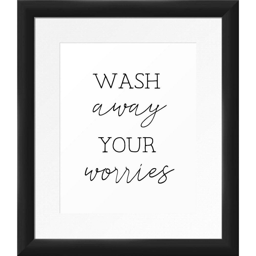 13 34 X 15 34 Wash Away Framed Wall Art Black Ptm Images