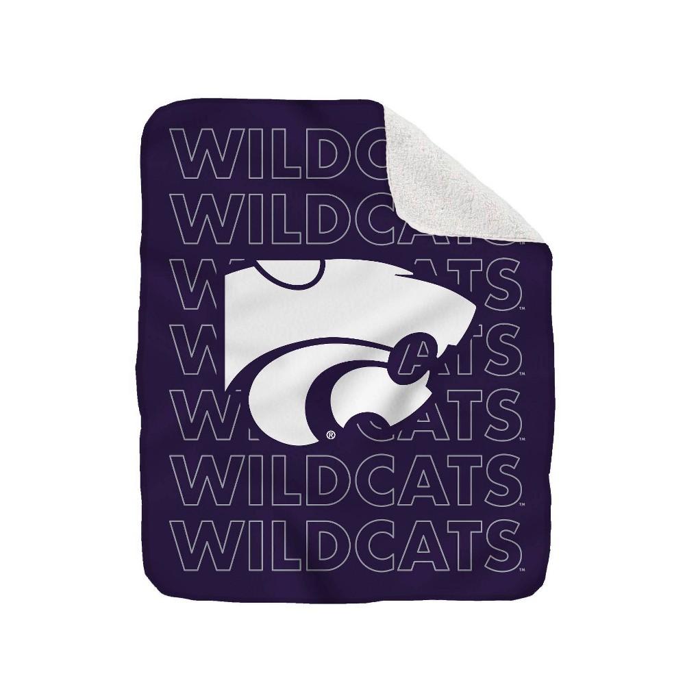 Ncaa Kansas State Wildcats Collegiate Echo Wordmark Plush Throw Blanket