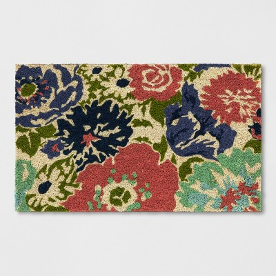 Orange Floral Doormat 1'6 X2'6  - Threshold™