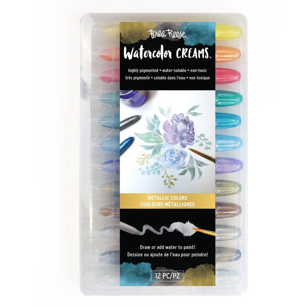 Image of Brea Reese 12pc Watercolor Creams Metallic