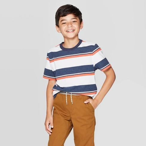 Boys' Short Sleeve T-Shirt - Cat & Jack™ White - image 1 of 3