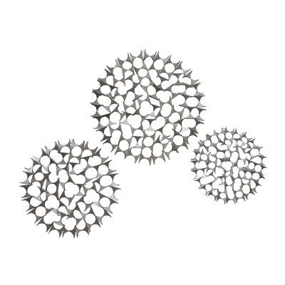 Set of 3 Modern Silver Bowties Wall Decor - Olivia & May