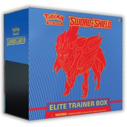 Pokemon Trading Card Game Sword & Shield S1 Elite Trainer Box featuring Zamazenta