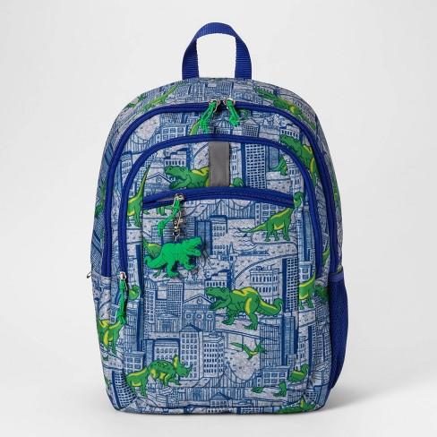 "17"" Dino Kids' Backpack Blue/Green - Cat & Jack™ - image 1 of 3"