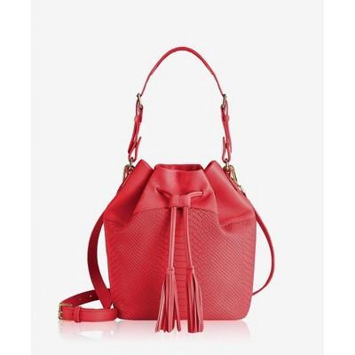 GiGi New York Red Jenn Bucket Bag Bag