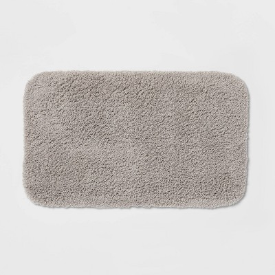 "20""x34"" Perfectly Soft Nylon Solid Bath Rug Gray - Opalhouse™"