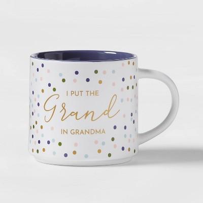 16oz Stoneware I Put The Grand In Grandma Stacking Mug White - Threshold™