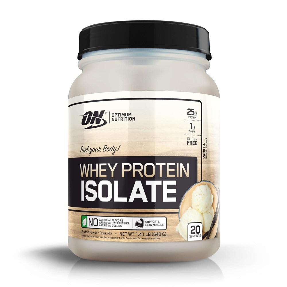 Optimum Nutrition Whey Isolate Protein Powder - Vanilla - 22.6oz