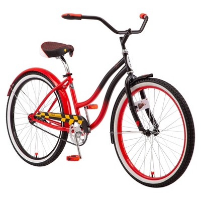 """Disney Women's Queen of Hearts 26"""" Cruiser Bike - Red/Black"""