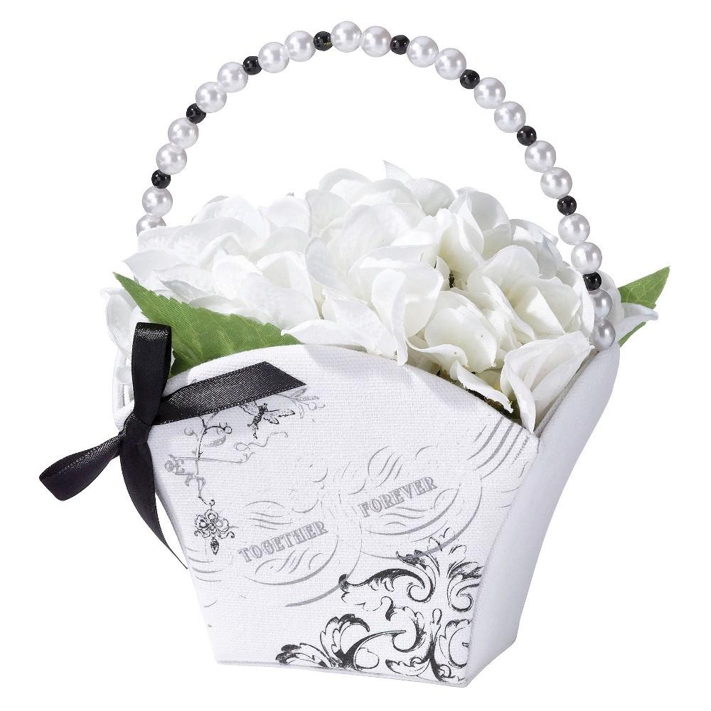 True Love Flower Bucket White