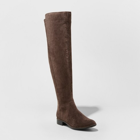 9a3bb229a91 Women s Breanna Wide Width Over The Knee Riding Boots - A New Day™ Brown  8.5W   Target